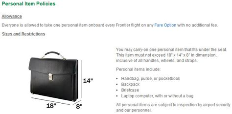 carry on fee frontier airlines carry on baggage charges