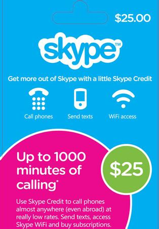 Skype Gift Card Discount - buy 25 usd skype credit gift card скидки and download