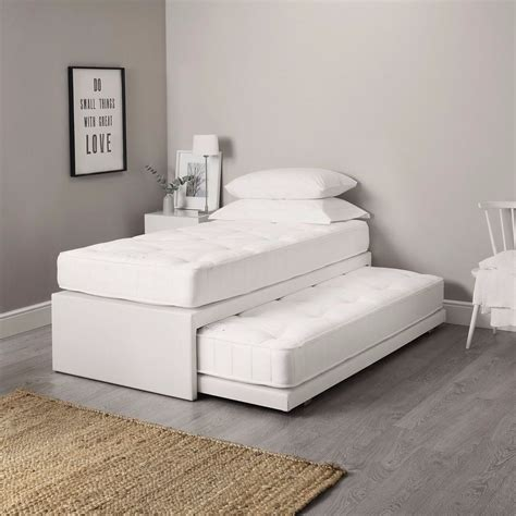 Guest Bed 3ft single leather guest bed 3 in 1 with mattress pullout