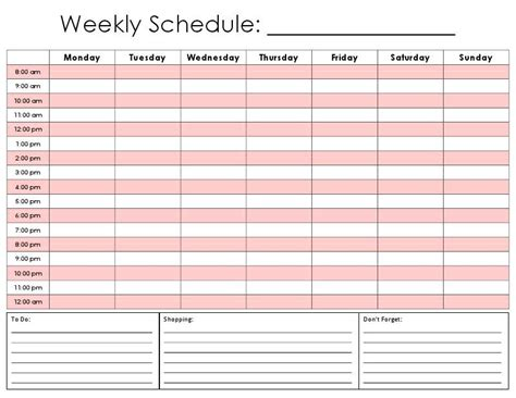 free printable daily planner by hour weekly calendar by hour weekly calendar template