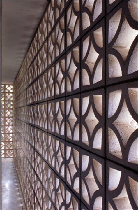 flower pattern concrete blocks patterned concrete block walls a mid century staple