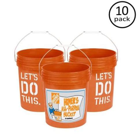 the home depot 5 gal homer 10 pack 05glhd2 the