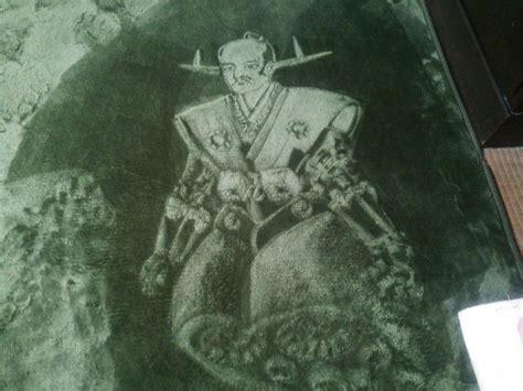 Karpet Karakter Gambar Robot 15 karakter ini ternyata dilukis di karpet nggak tega