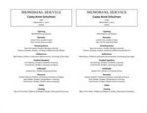 12 sample memorial service programagenda template sample