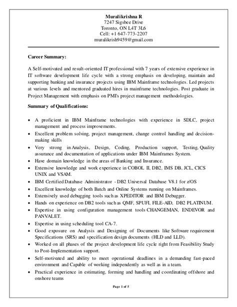 Mainframe Resume by Muralikrishna Rathipelli Resume June 23nd Mainframe Developer