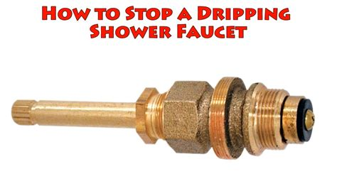 How To Fix A Dripping Bathroom Faucet by How To Stop A Dripping Shower Faucet Repair Leaky