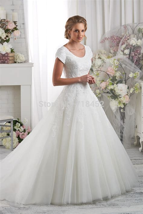 modest lace wedding dresses with sleeves modest high neck lace bodice wedding dress short sleeve