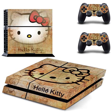 home design games ps4 hello kitty ps4 skin sticker decal made pvc console and