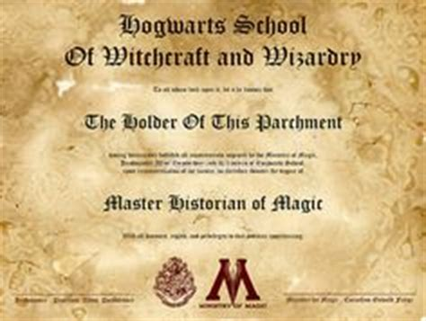 harry potter certificate template hogwarts student application by bonnieandclydeproduc