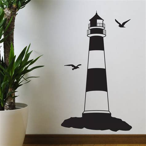 silhouette wall stickers lighthouse silhouette wall sticker wall stickers
