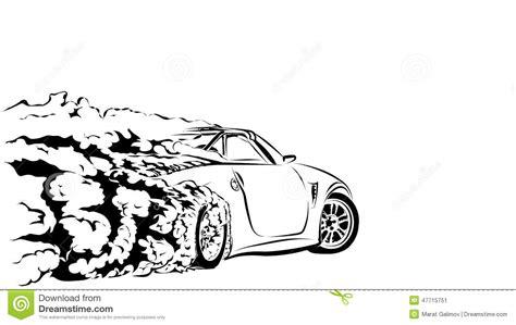 car sport drift stock vector image  sticker drift