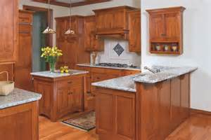 Dark Wood Kitchen Island Mission Style Birch Kitchen Craftsman Kitchen