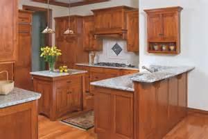 Mission style birch kitchen craftsman kitchen