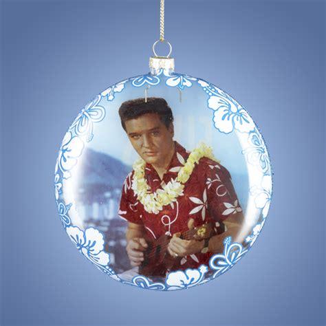 elvis presley blue hawaii hawaiian glass ball christmas