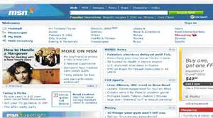 msn homepage images