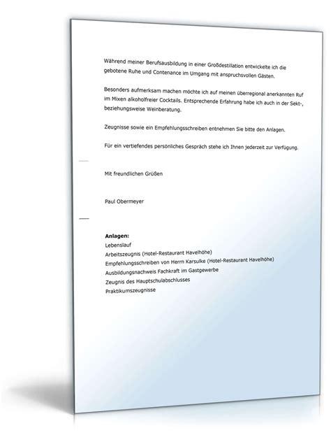Bewerbung Anschreiben Vorlage Doc Bewerbung Fachkraft Im Gastgewerbe Muster Vorlage Zum
