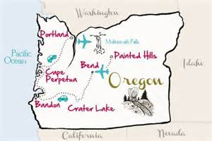travel oregon map from kevinandamanda travel kevin