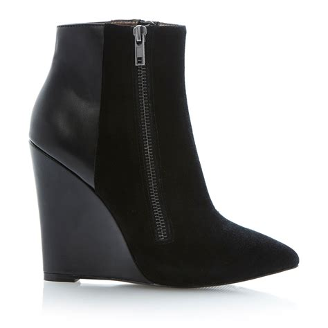 steve madden wedge boots steve madden daaring zip detail pointed toe wedge ankle