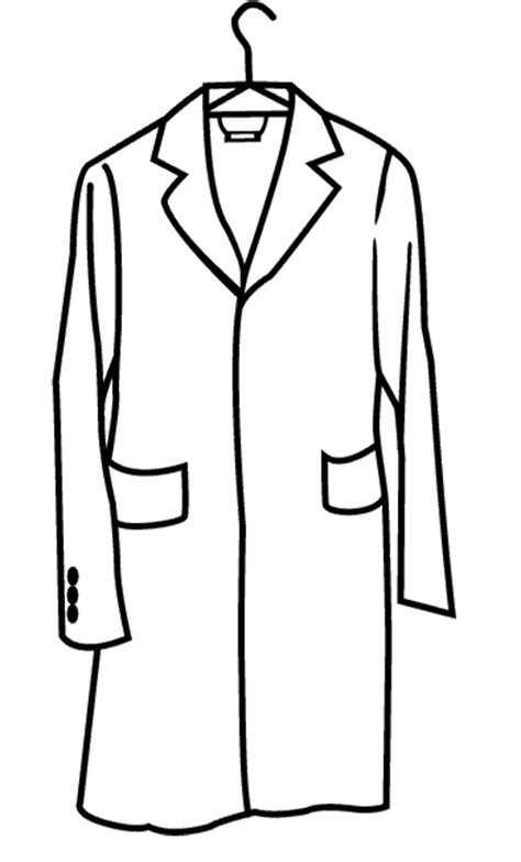 coloring page winter jacket rain jacket clipart 35