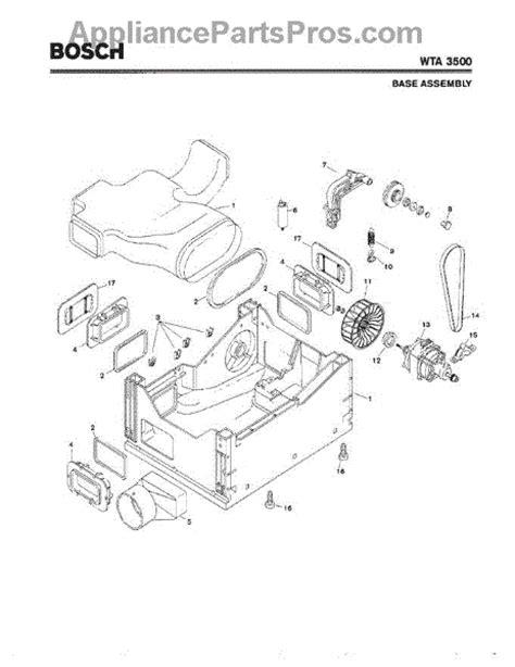 bosch dryer parts diagram bosch 00265678 vent adapter wta 3500 appliancepartspros