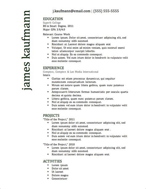 top 10 resume format free 12 resume templates for microsoft word free