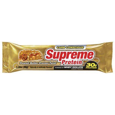supreme protein supreme protein peanut butter pretzel twist bar 3 38 oz