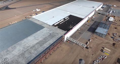 tesla gigafactory planned 2020 production of lithium ion cells slide tesla gigafactory expansion caught by drone video