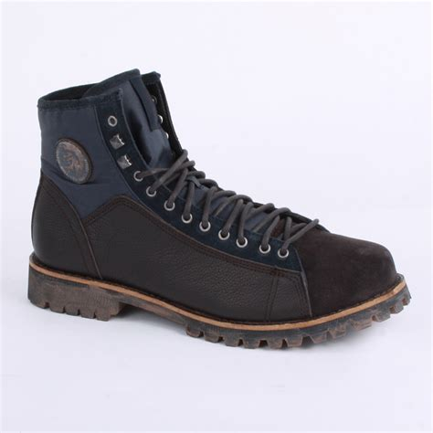 diesel king mens laced leather suede ankle boots shoes