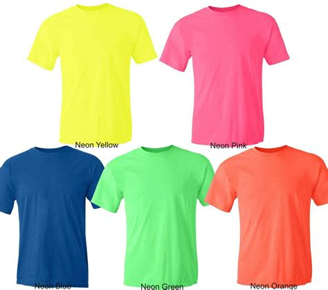 color t shirts gildan neon heavy cotton t shirt fluorescent colors safety