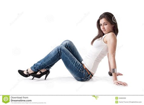 Floor Poses by Posing On Floor Stock Photo Image 24660300