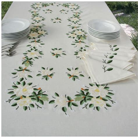 embroidery design for table cloth embroidered tablecloth 03