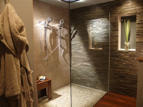 modern natural bathroom natural modern bath with split stone contemporary