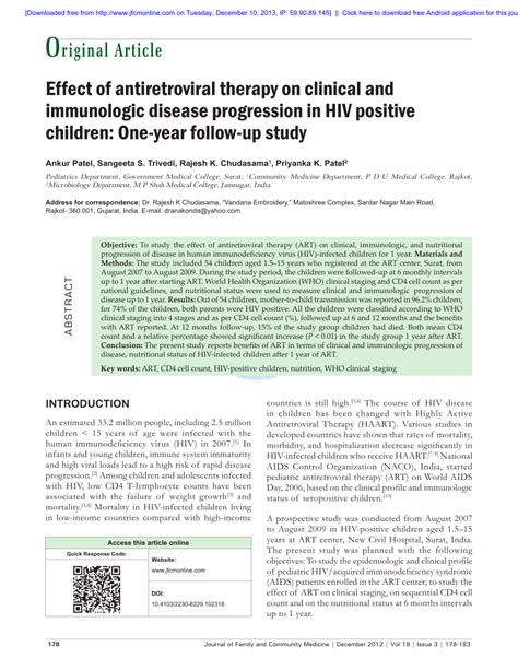 Links To Stalk 7 by Effect Of Antiretroviral Therapy On Clinical And