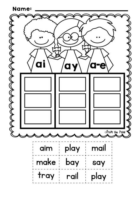 Vowel Team Worksheets by Phonics Sound Pals Vowel Team Posters Words Sorts And