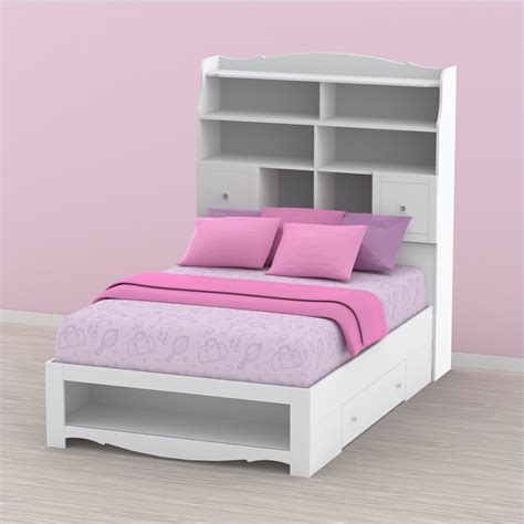 full beds with storage nexera pixel full storage white kids bed ebay