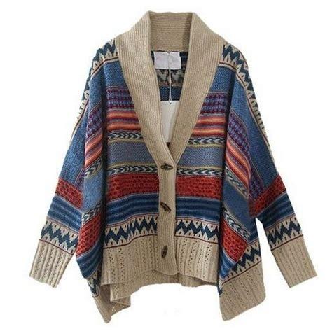 Pink Grid Casual Sweater 21423 womens bohemian casual tribal oversized knit bat sleeve