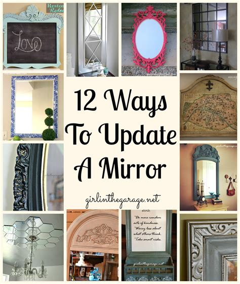 ideas for how to update 12 ways to update a mirror in the garage 174