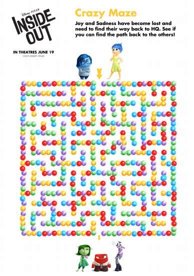 disney pixar inside out free printables 17 free inside out printable activities mrs kathy king