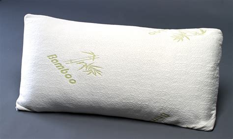 With Pillows by Memory Foam Pillows With Bamboo Covers 1 Or 2 Pack