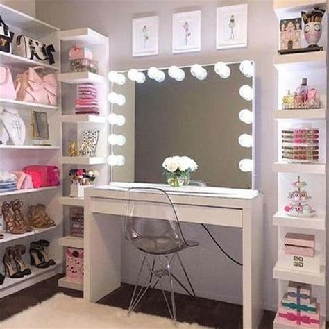 desk in walk in closet home dzine bedrooms glam vanity ideas