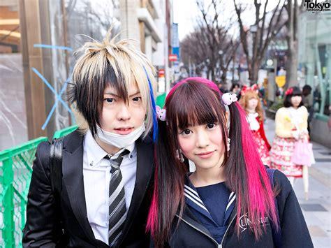 japanese school hairstyles colorful harajuku hairstyles tokyo fashion news