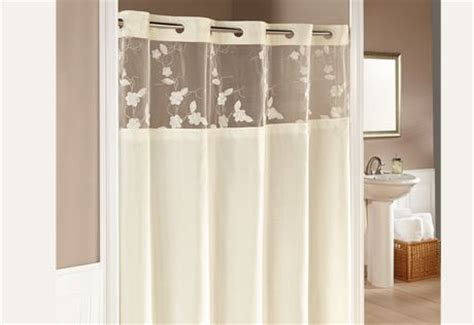 cream colored shower curtain hookless 174 serena shower curtains in cream a silky fabric