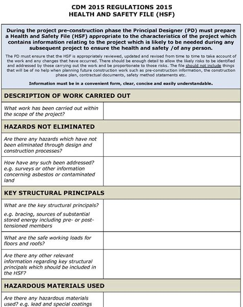 health and safety templates free safety plan template cyberuse