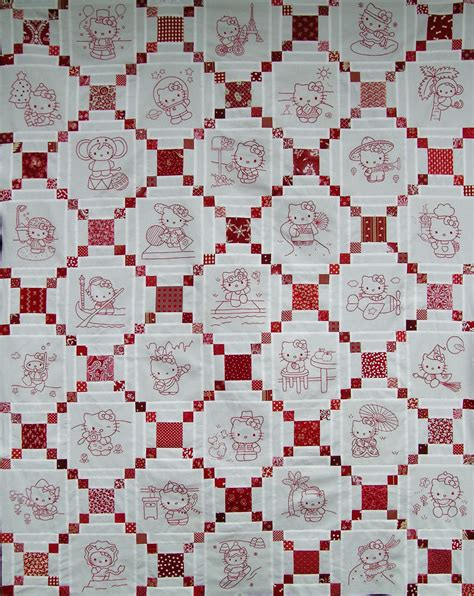 Redwork Quilt hello redwork quilt top q is for quilter