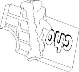 coloriage tablette chocolat dessin 224 imprimer sur coloriages