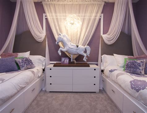 Vibrant transitional family home kids girls room2 robeson design