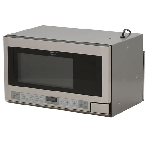 under cabinet microwave oven reviews sharp 1 5 cu ft over the counter microwave in stainless