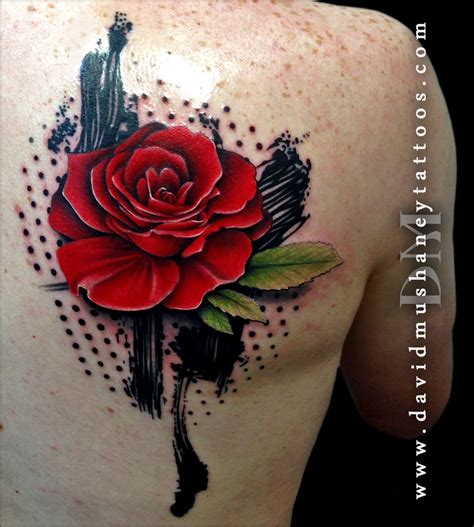 trash polka rose tattoo david mushaney