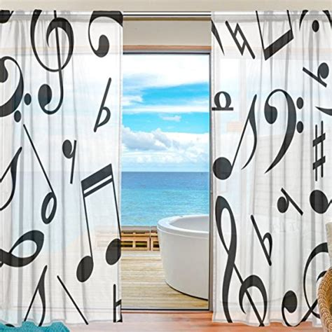 music note window curtains top 25 for best modern window treatment