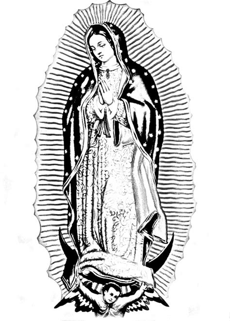 virgen de guadalupe coloring pages coloring pages